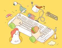 """""""Hack World"""" Event Illustration"""