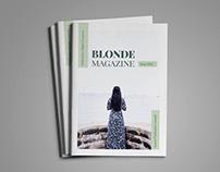 Blonde Magazine Template