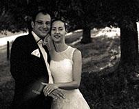 wedding- 6x6 on BW film