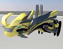 Maya - 3D Sci-fi Spaceship