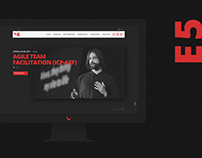 E5 — redesign of corporate website