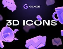 Glaze 3D Icons
