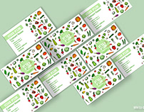 Collection of cartoon business cards with vegetables!