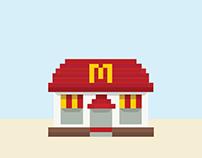 MacDonald's Food Icons X Nanoblock Collectibles