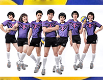 LGBT Volleyball Charity Poster For Mplus Organization