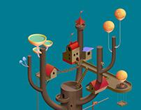 Mushrooms tower