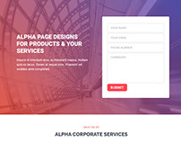 Alpha Elementor Page Layout