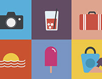Collection Of Vacation Icons | PREMIUM DOWNLOAD