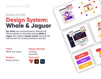 Design System: Whale and Jaguar