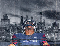 UPenn Football Locker Room Graphics