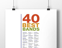 40 Best Bands Poster
