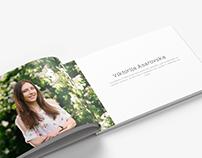Alumni album design and photoshoot