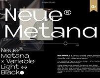 Neue Metana® Variable Font Family - Free Font