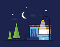 Night light - Vector illustration