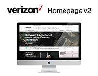 Verizon Enterprise Homepage Redesign, v2