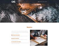 Diseño web - CAS empresa de mineria