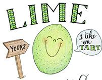 Fruit Pun illustration series and greeting cards