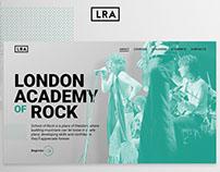 London rock academy / ui design