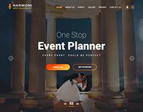 Harmoni-Event Management PSD Template