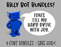 Billy Bot Bundles: 4-Packs of Fun Fonts!