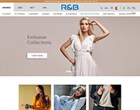 R&B Apparels Ecommerce UX/UI Design