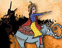 The Defiant Queen (Amar chitra Katha)