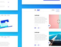 Clean and minimalist portfolio theme