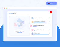 Upload Files Design - Freebie