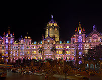 Architectural Illumination of CST Mumbai World Heritage
