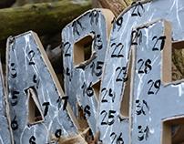 3D Type calendar