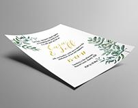 Cara & Jeffery Wedding Invitation