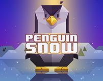 Penguin Snow Art