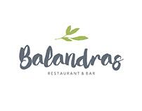 Balandras Restaurant & Bar branding