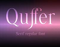 Quffer, serif font