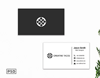 Free BW Minimal Creative Business Card Template