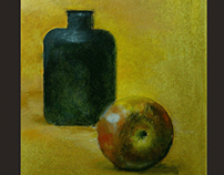 Still life - poison and apple Oil 297 X 210 mm 10.21.20