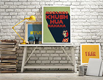 Bollywood posters for Livspace office.