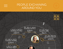 UI/UX Application design for people exchanging money .