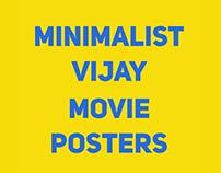 Minimalist Vijay movie posters