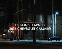 LESSONS LEARNED. 2016 CHEVROLET CAMARO.