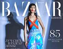 Cover story for Harper's Bazaar Kz