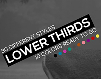 Flat Dynamic Lower Thirds Pack, After Effects Templates