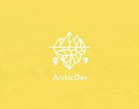ArcticDev — концепт сайта команды разработчиков