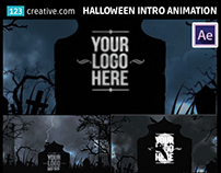 After Effects template Horror Halloween intro animation