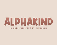 Alphakind free font for commercial use