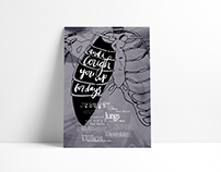 Typography Class Hand Lettered Lyric Poster