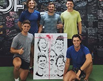 Fitness Team Caricature