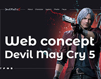 Devil May Cry 5 web concept
