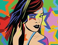 Pop art inspired by Lobo pop art
