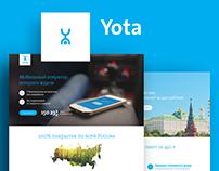 Yota. Landing pages